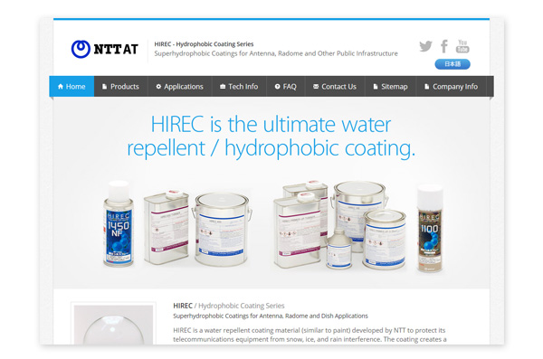 HIREC - Hydrophobic Coating Series