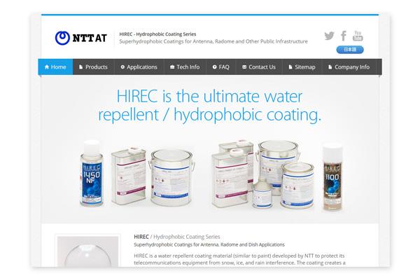Super-Water-Repellant Coating, HIREC