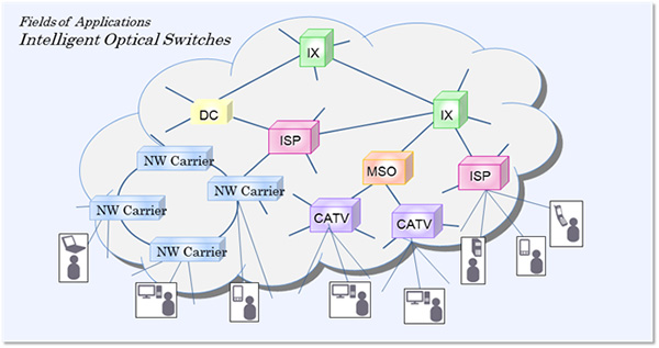 Fields of Applications Ontelligent Optical Switches